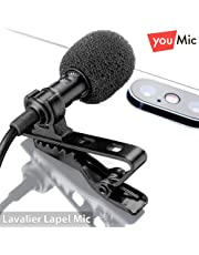 Lavalier Lapel Microphone with Easy Clip On System   Perfect for Recording Youtube Vlog Interview / Podcast   Best Lapel Mic for iPhone iPad iPod Android Mac PC