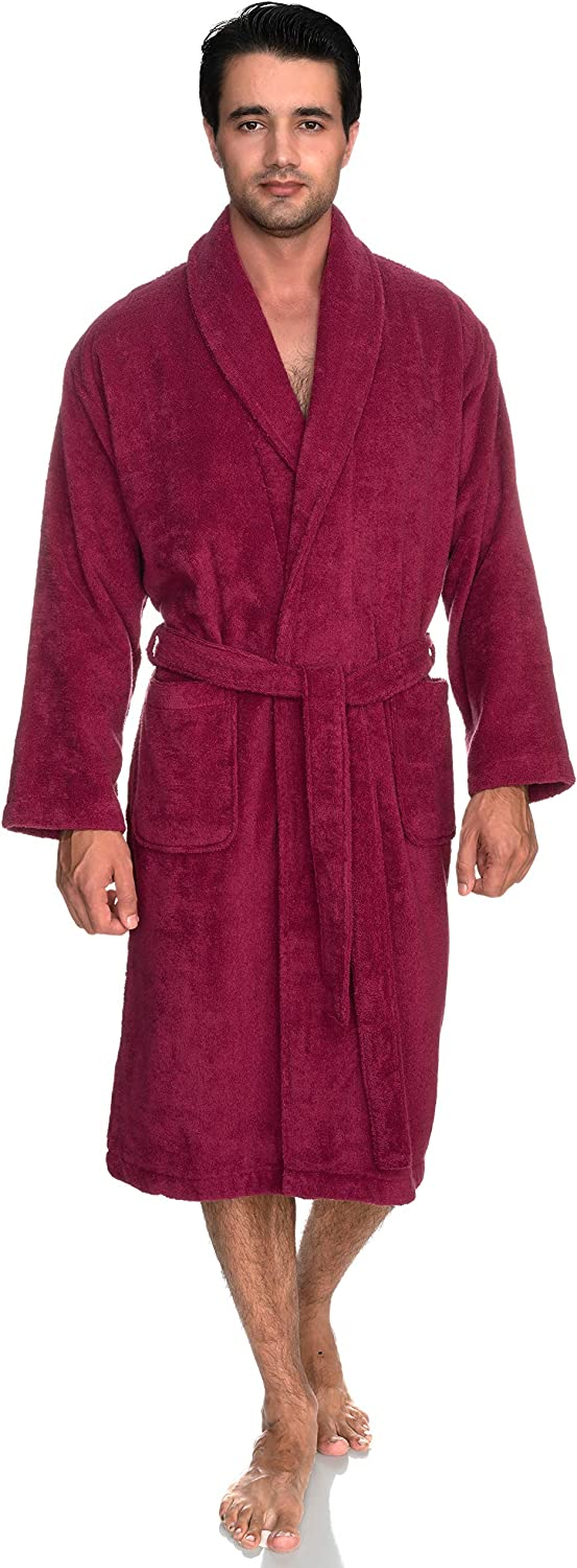 TowelSelections Men's Robe, Turkish Cotton Terry Shawl Bathrobe