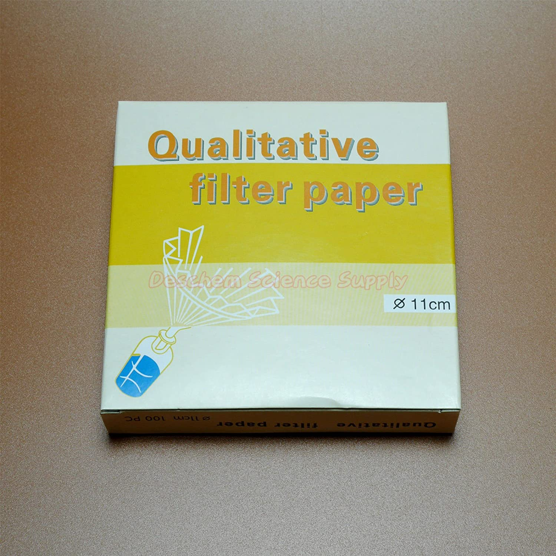 Deschem 11cm 10-15/μm Qualitative Filter Paper OD=110mm Slow Speed 100 Sheet//Lot