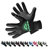 BPS 3mm Neoprene Thermal Gloves with Anti-Slip Palm - Full Hand Gloves for Sailing, Spearfishing, Paddleboarding, Surf, and Other Water Activities - for Men and Women