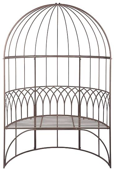 in klassischer Optik 120 x 62 x 185 cm Esschert Design Pavillon mit Bank aus Metall sehr stabil
