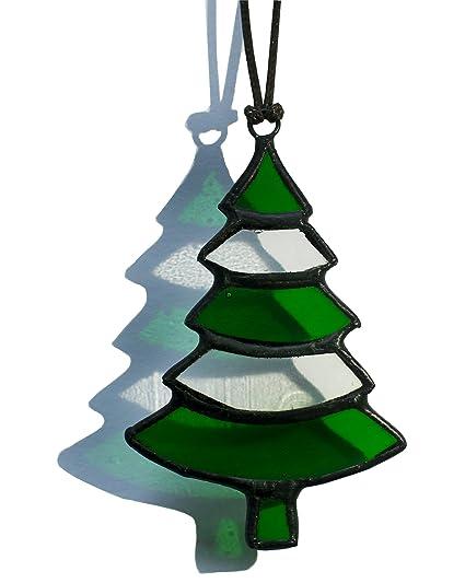 Amazon.com : Eanjia Handmade Xmas Gift Stained Glass Christmas Trees ...