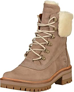 4f7d5ff41e3 Timberland Women s Courmayeur Valley A1SA8 Shearling Lined Boot Taupe Grey