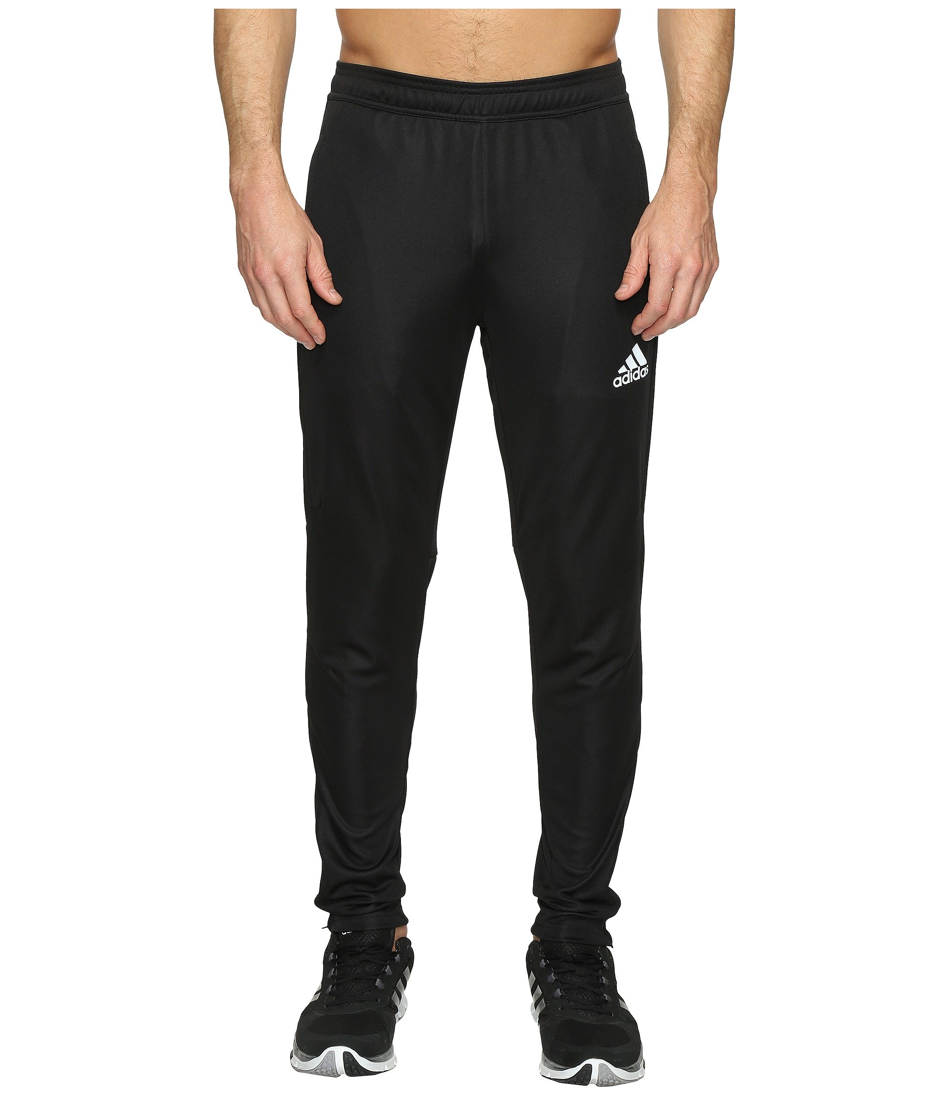 adidas Men's Soccer Tiro 17 Pants, Medium, Black/White