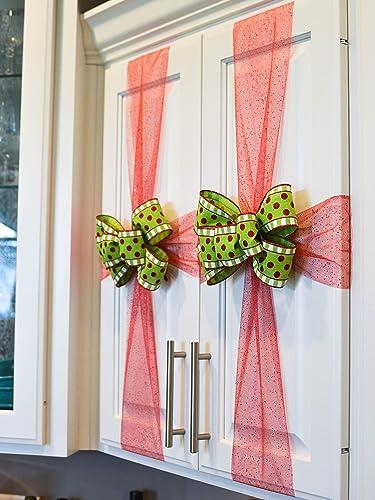 Amazon Com Set Of Kitchen Cabinet Christmas Bows Christmas Decor