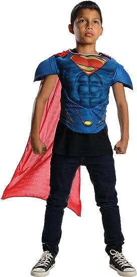 Kit disfraz Superman El hombre de acero musculoso para niños - 3-4 ...