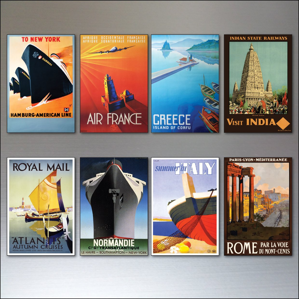 Travel Posters Fridge Magnets from Art Deco Period - Retro report No.5