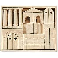 Melissa & Doug Bloques de unidad de arquitectura (44 bloques de construcción de 11 formas, madera sólida)