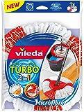 Vileda Easy Wring & Clean Turbo 2in1 - Recambio de Microfibras y poliamida, color rojo y blanco