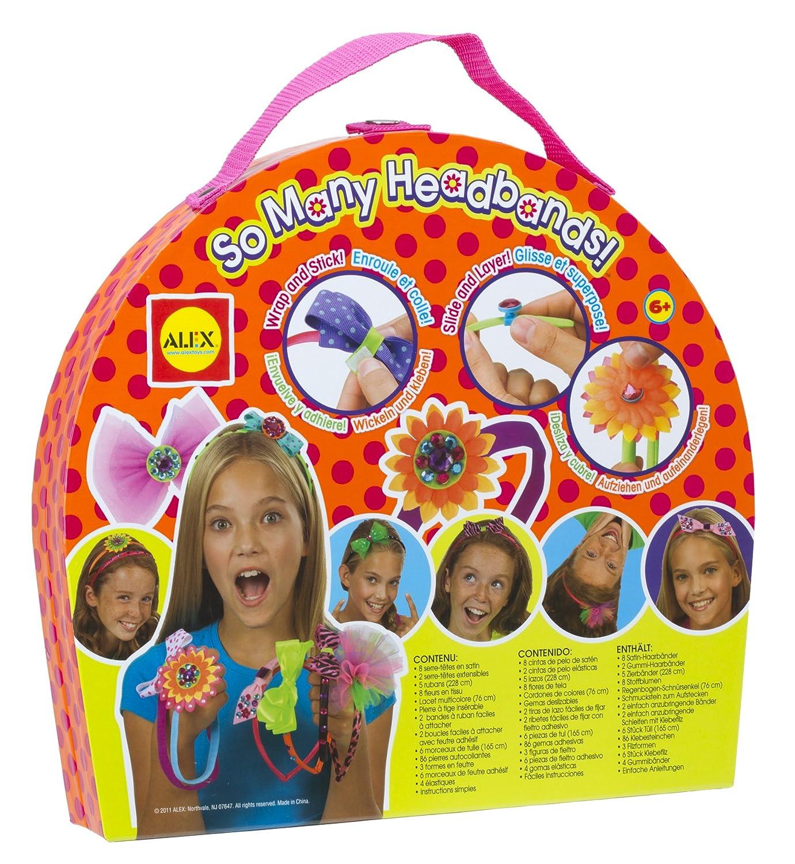 Alex 724 Kit per la Decorazione e Personalizzazione di Cerchietti per Capelli per Bambini