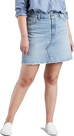 Levis Para mujer Plus Deconstructed Skirt Falda - Azul -: Amazon.es: Ropa y accesorios
