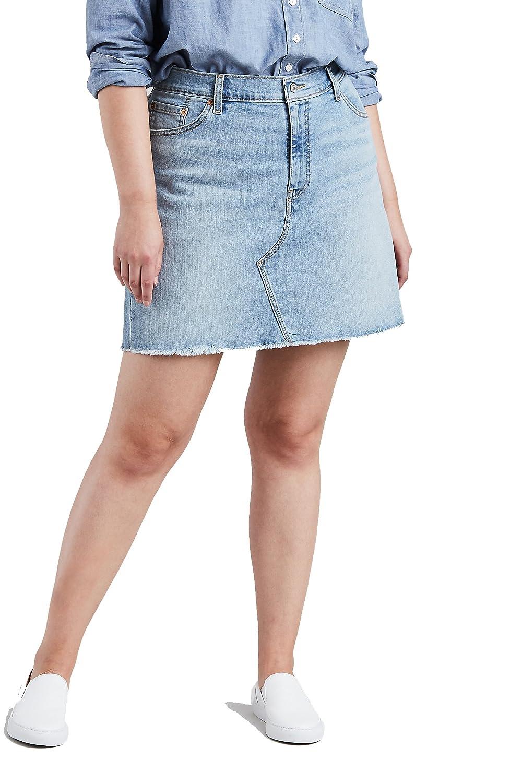 Levis Para Mujer Plus Deconstructed Skirt Falda - Azul -: Amazon ...