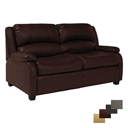RecPro Charles Collection 65 RV Hide A Bed Loveseat RV Sleeper Sofa Pull Out Couch RV Furniture RV Loveseat RV Living Room Slideout Furniture Mahogany