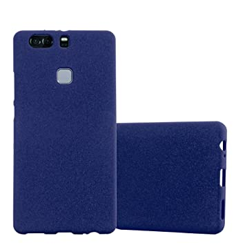 Cadorabo Funda para Huawei P9 Plus en Frost Azul Oscuro - Cubierta Proteccíon de Silicona TPU Delgada e Flexible con Antichoque - Gel Case Cover ...