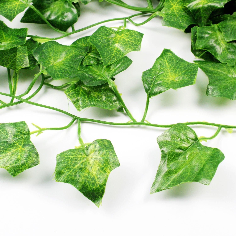JPSOR 24 Stück Künstliche Grün Fake Efeublatt Efeu Girlanden Ivy