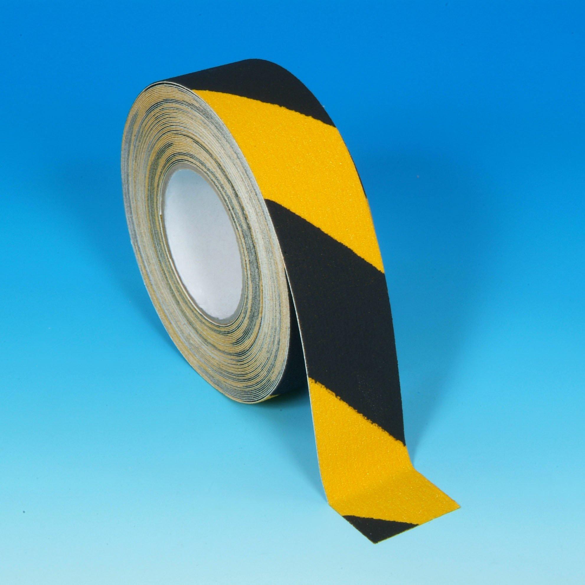 Black Yellow Hazard Non Slip Tape 1''x60ft