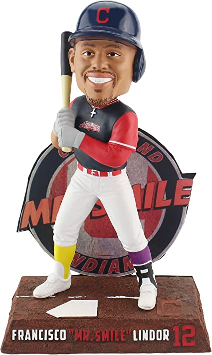 Forever Collectibles Francisco Lindor Cleveland Indians Baller Special Edition Bobblehead MLB