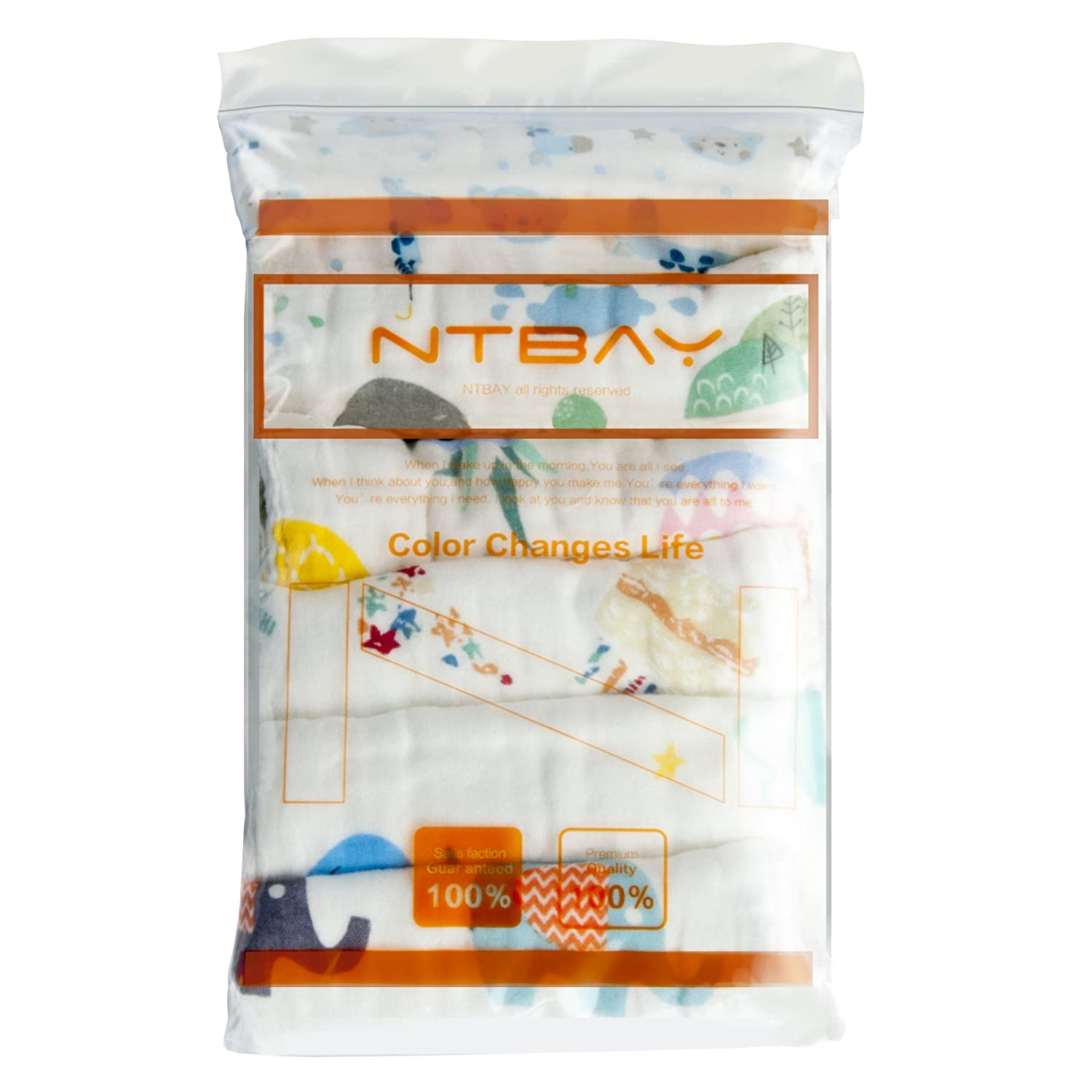 Ntbay Organic Cotton Baby Washcloths