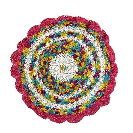 Buy Valli Fashions Cotton Handmade Round Crochet Table Mats