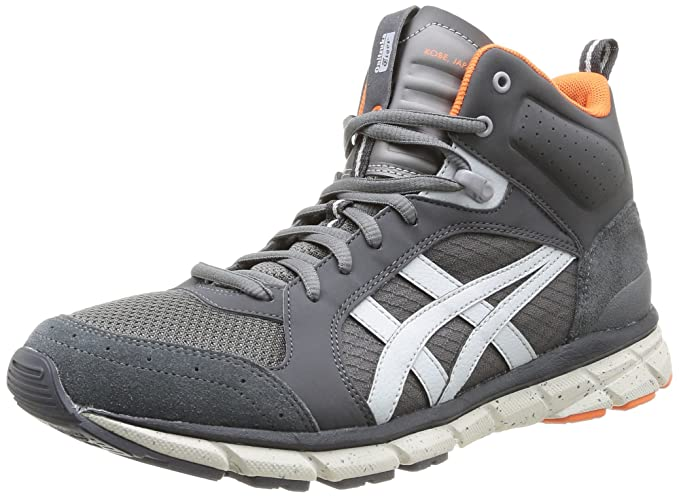 For Mens Onitsuka Tiger Mens Harandia Mt Trainers Dark Grey Shoes Dark Grey
