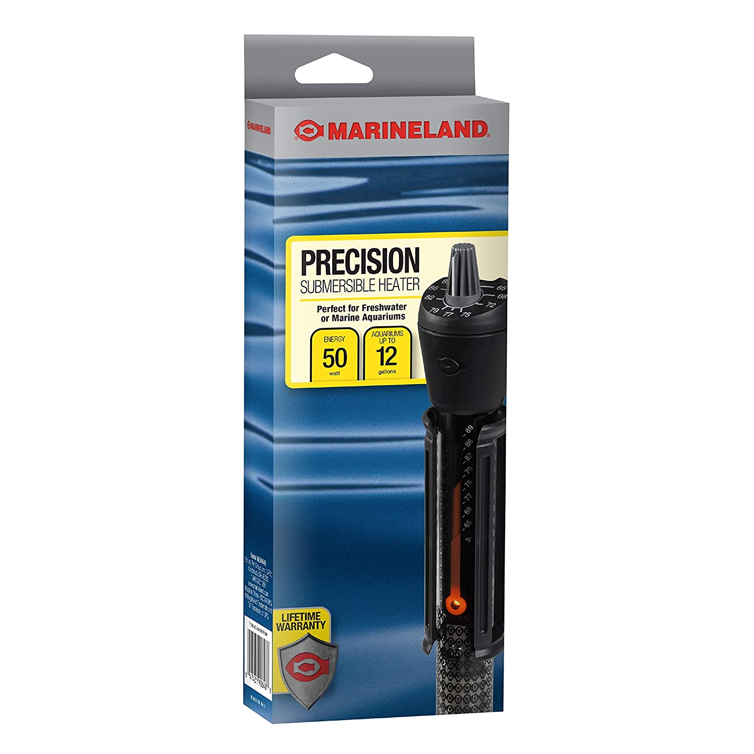 50-watt Marineland Precision Heater for Saltwater or Freshwater Aquariums