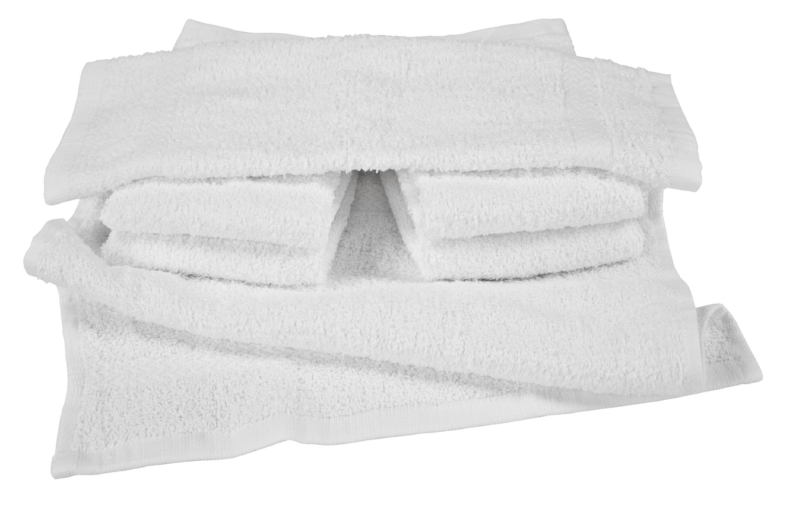 RIEGEL Royal 100-Percent Cotton Washcloths, 13 by 13, White, 24-Pack