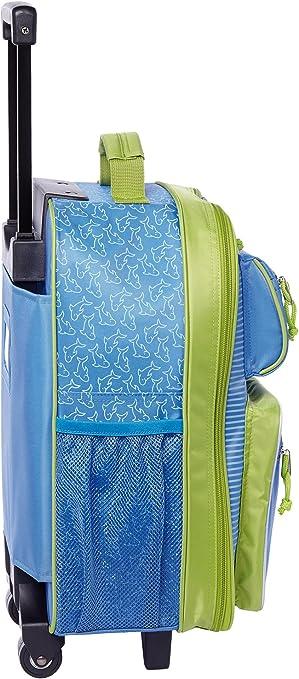 SIGIKID 25155 Valise /à roulettes pour Enfant Motif /él/éphant KiGaColor Bleu 52 x 32 x 22 cm /Âge 3 /à 8 Ans