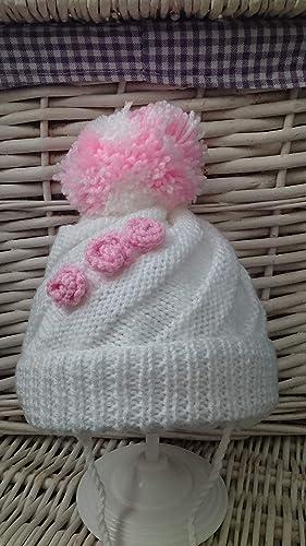DK Baby Girls Peach 3-6 Mth Matinee Jacket Bonnet /& Mits Set Knitted In U.K