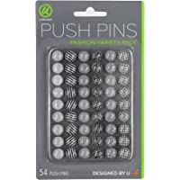 Deals on U Brands Fashion Steel Push Pins 54 Count