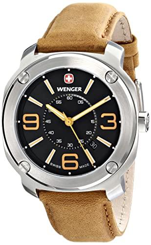 Wenger Men s 01.1051.102 Escort Analog Display Swiss Quartz Brown Watch