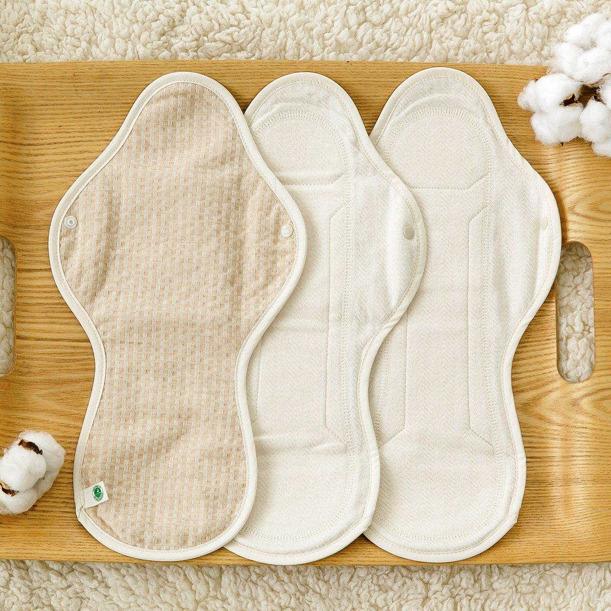 THINKECO [5 Pads] Organic-Hanji Reusable Menstrual Cotton Pads, Sanitary Napkins (XL) by THINKECO (Image #3)