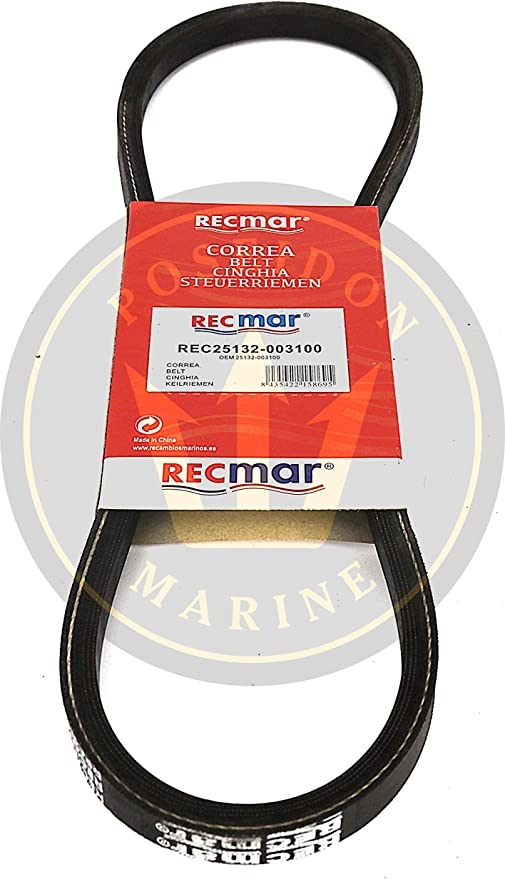 Replaces 25132-003700 3GM30F Alternator Belt for Yanmar Marine 2GM20F