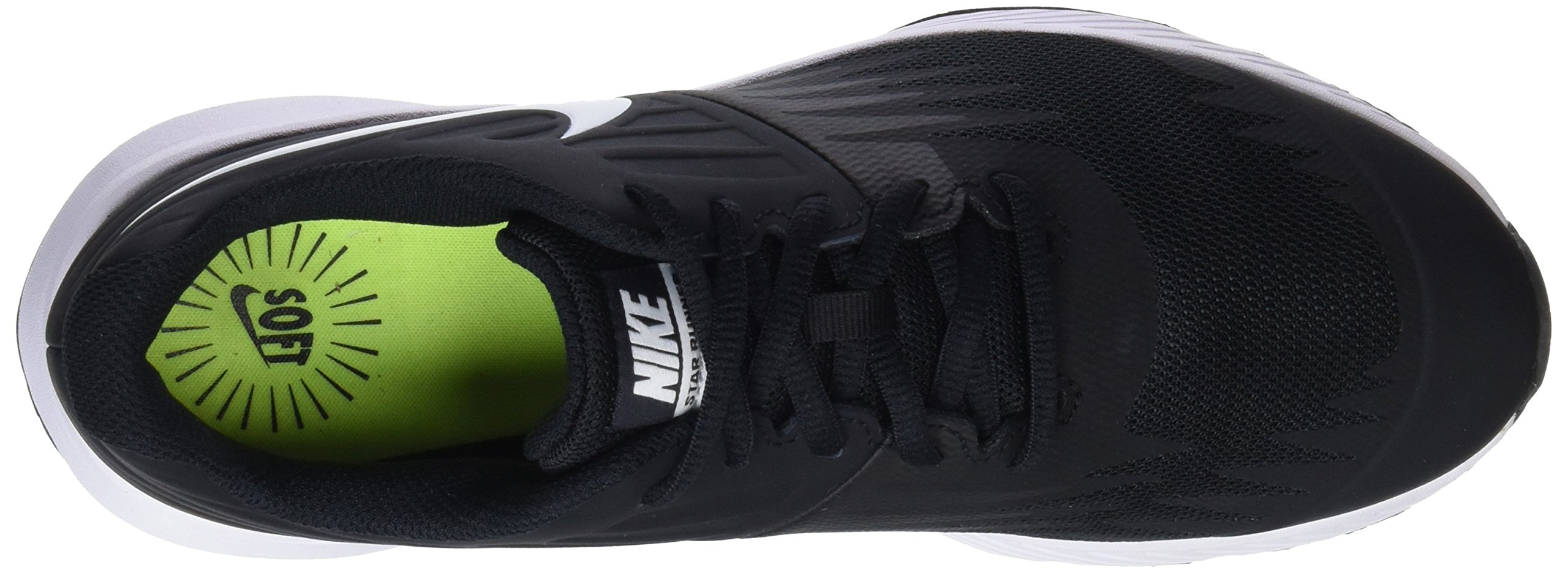 Nike Kids' Grade School Star Runner Running Shoes (3.5, Black/White) by Nike (Image #7)