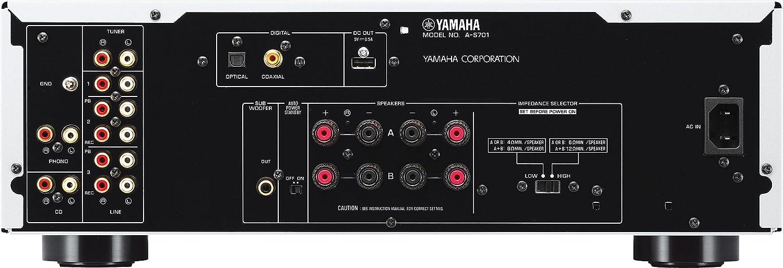 Yamaha A-S701 Stereo-Vollverstärker inkl. D/A Wandler silber: Amazon ...
