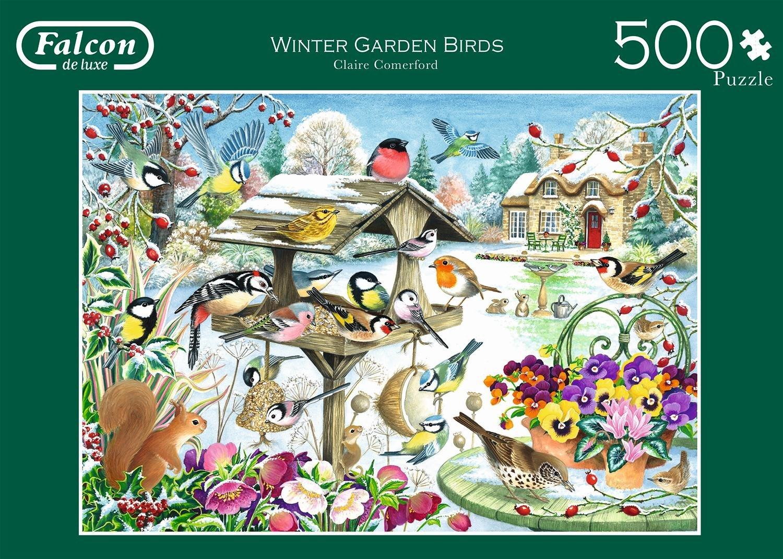 amazon com winter garden birds 500 piece jigsaw puzzle toys u0026 games