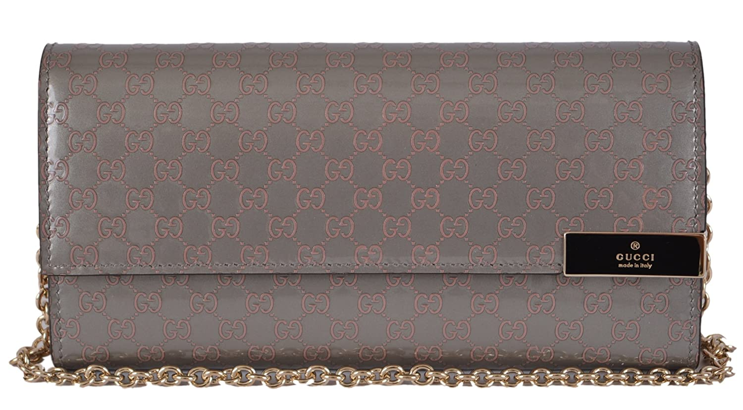 af78b782bede Gucci Women's Patent Leather GG Guccissima Chain Wallet at Amazon Women's  Clothing store: