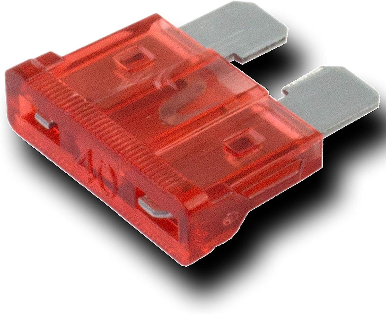 40 amp STANDARD CAR BLADE FUSES 40A ORANGE BLADE FUSES 50 PACK