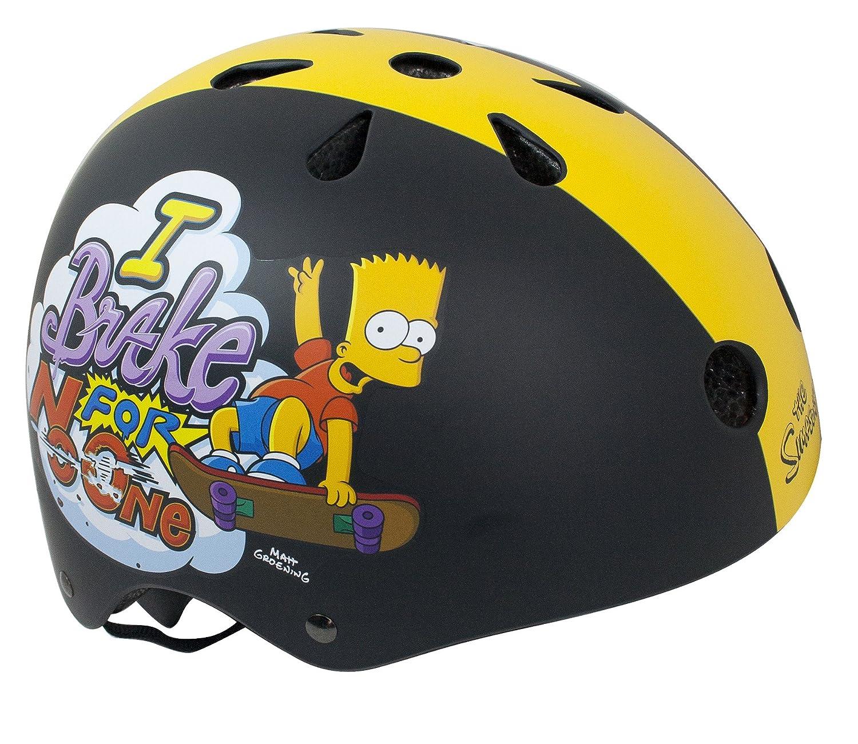 BART SIMPSON / SIMPSONS - Skaterhelm / Fahrradhelm / Multisport Helm - 48-54cm - Mädchen/Jungen Ertedis 802058