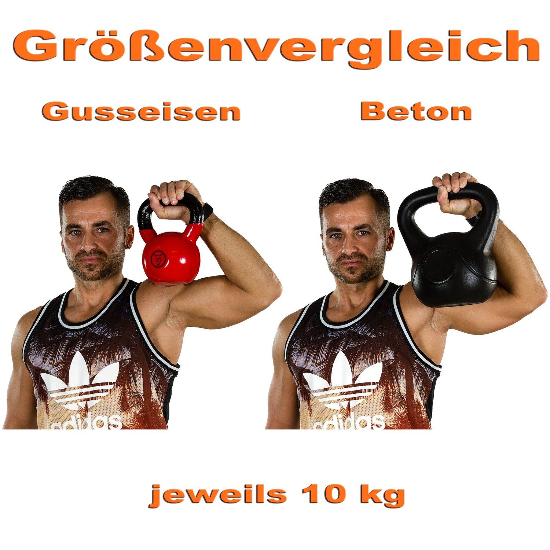 MOVIT/® Profi Kettlebell Kugelhantel aus Gusseisen mit Vinylbeschichtung 2 bis 24 kg 12 Varianten