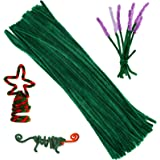 100 Pieces Pipe Cleaners Chenille Stem, Solid Color Pipe Cleaners Set for Pipe Cleaners DIY Arts Crafts Decorations, Chenille