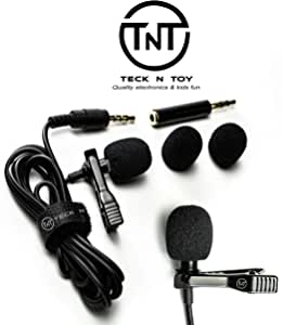 Mini ​Lavalier Lapel Microphone - Professional Clip On Collar Mic for Laptops, iPhone, Android Devices - Discreet, Portable Lav Recording System for Interviews, Podcasts, YouTubers, Vloggers
