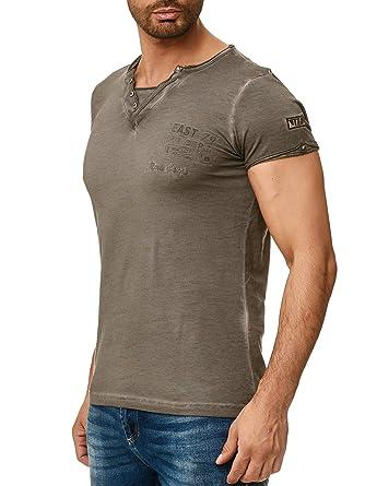 945978e48860e5 Tazzio Herren T-Shirt mit V-Halsausschitt 4060  Amazon.de  Bekleidung
