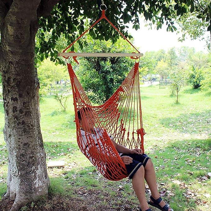 QJJML Silla Hamaca Colgante Jardin Exterior,hamacas Madera ...