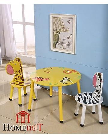 HOME HUT Conjunto de Mesa y sillas de Madera para niños, diseño de Animales de