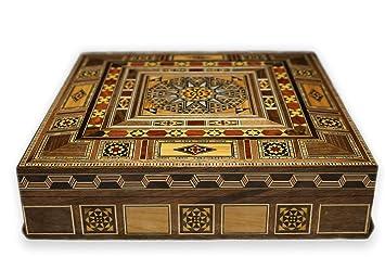 Joyero de Madera, Caja de Almacenaje, Artesanías, Hecho a Mano, Damaskunst K 2-2-47: Amazon.es: Oficina y papelería