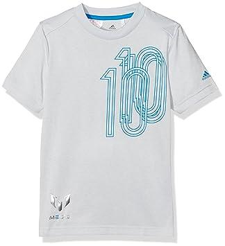 adidas YB m Icon Tee T-Shirt à Manches Courtes pour Enfant  Amazon ... c9c92f98531