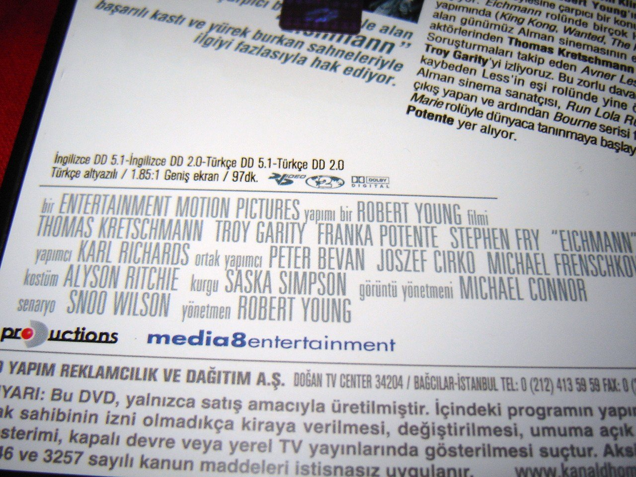 Tv Dvd Kast.Amazon Com Eichmann Thomas Kretschmann Troy Garity Franka