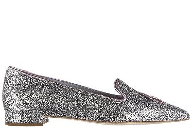 Chiara Ferragni Damen Ballet Flats Ballerinas Silber EU 39 CF1431 ... 18996f32d1