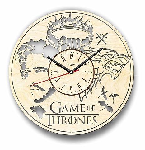Juego de Tronos Jon nieve reloj de pared hecho de madera – perfecto y muy bien