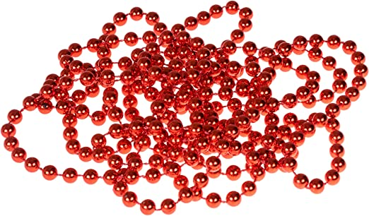Christmas beaded garland red gold silver 2.7 m long Christmas Tree decoration